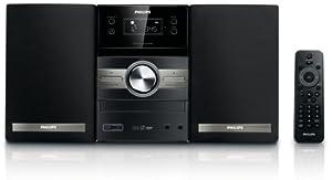 Philips MCM 305 - Minicadena (reproductor de CD, MP3 y WMA, radio FM y AM, USB 2.0), color negro