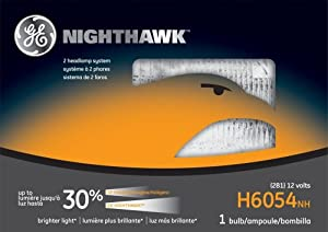 GE H6054NH Nighthawk Automotive Headlight Bulb, Pack of 1