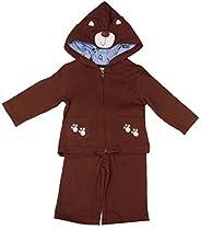 Baby Togs Baby-Boys Newborn Creeper Set, Brown, 3-6 Months