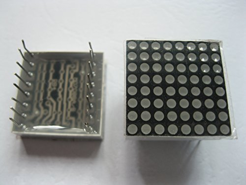 6 Pcs Dot Matrix Led Display 1.9Mm 8X8 Red Common Anode 20X20Mm 16Pin