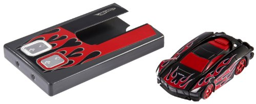 Hot Wheels RC Stealth Rides Racing Car - Black with Red Flames