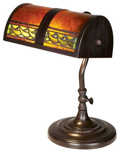 Top 10 best watt bankers lamp review this dale tiffany bl 103 60 watt bankers lamp measures 14 inches in height and comes with a beautiful plastic shade more so the lamp uses a 60w type t aloadofball Image collections