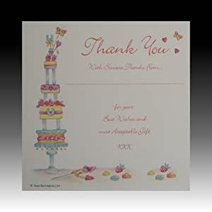 Wedding Gift List Amazon : Amazon.com: Pack of 10 Luxury White Wedding Gift Thank You Cards with ...