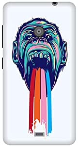 The Racoon Grip printed designer hard back mobile phone case cover for Microsoft Lumia 535. (Tripping C)