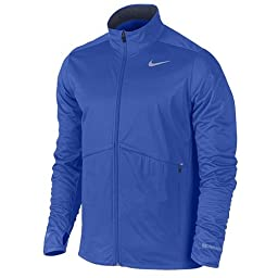 Nike Men\'s Element Shield Full-Zip Jacket (Medium, Biue)