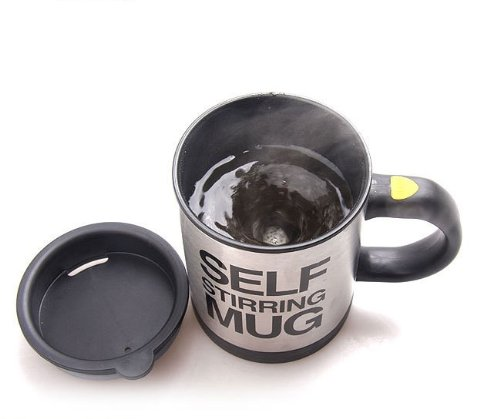 Automatic Stainless Coffee Mixing Cup Blender Self Stirring Mug Best Gift