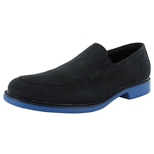 Cole Haan Mens Great Jones Venetian Slip On Loafer Shoes, Black Nubuck, US 10.5 (Cole Haan Shoe Inserts compare prices)