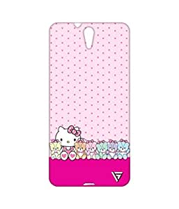 Vogueshell Kitty Dotted Pattern Printed Symmetry PRO Series Hard Back Case for Sony Xperia C5