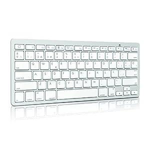 QOOPRO 21015 - Teclado Bluetooth, plata y blanco  Informática revisión y más noticias
