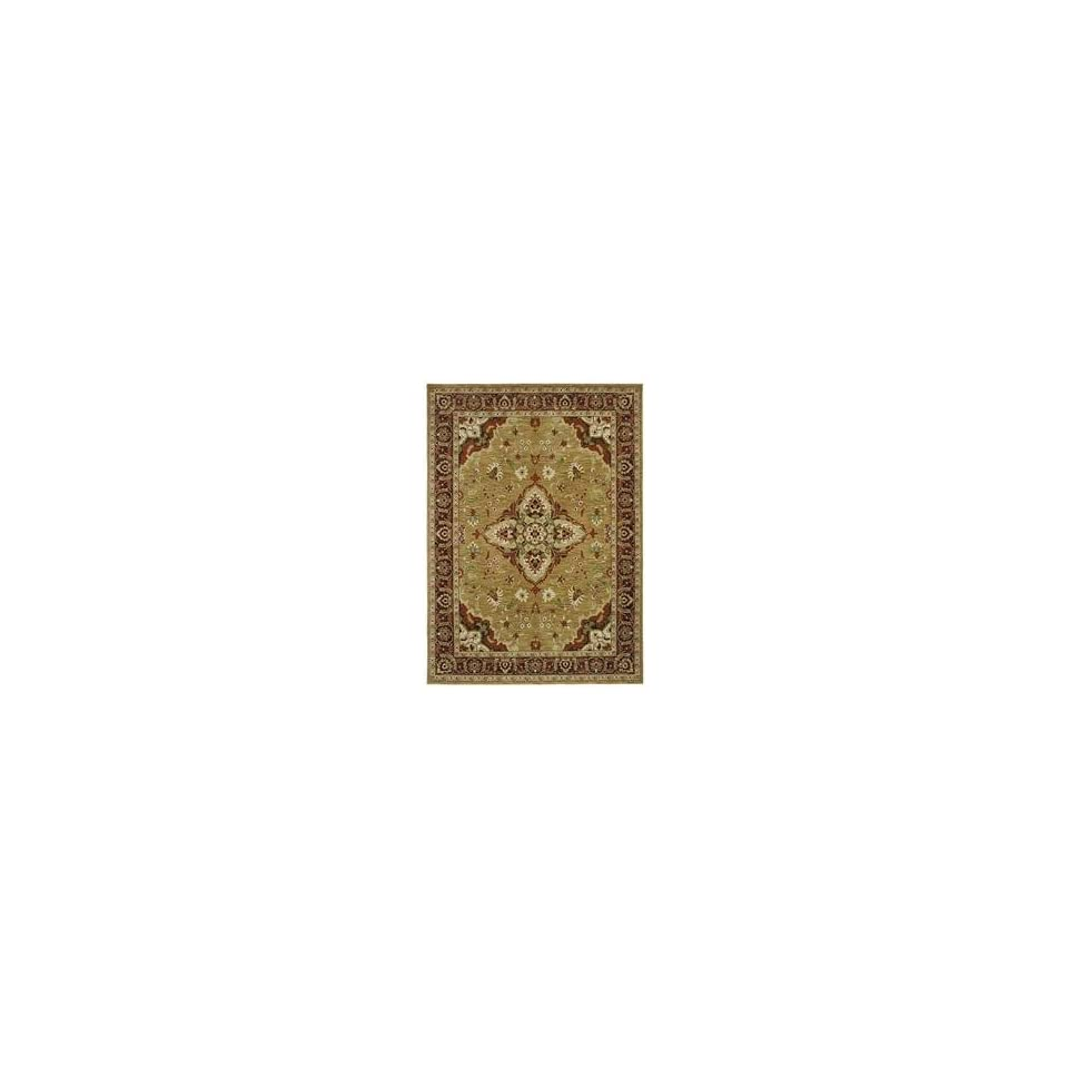 Shaw Tommy Bahama Home 3V495 Port Royal Medallion Gold 47700 Rectangle