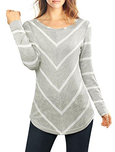 allegra-k-women-scoop-neck-chevron-print-tunic-top-grey-l