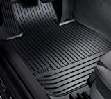 BMW FRONT Black X5 E53 All Season Floor Mats 2001 - 2006 Genuine Factory OEM 82550151189 (set of 2 front mats)