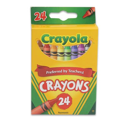 1 piece of 24ct CRAYOLA NON-TOXIC CRAYONS - 1
