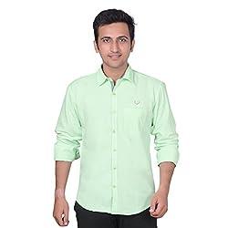 Anry Men's Casual Shirt (LGRN4100_Green_L)