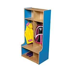 Healthy Kids Colors WD52400B Blueberry 2 Section Locker