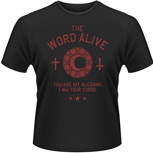 Plastic Head Word Alive, The Curse-T-shirt Uomo,    nero Medium