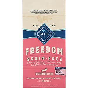 Blue Buffalo Small Breed Freedom Grain Free Chicken Recipe Adult Dry Dog Food, 4-Pound