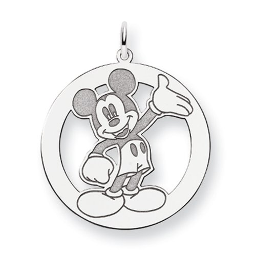 Disney's Waving Mickey Mouse Charm in Sterling Silver