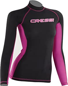 Cressi Lycra Skin Long Sleeve Rash Guard, Women's - X-Large
