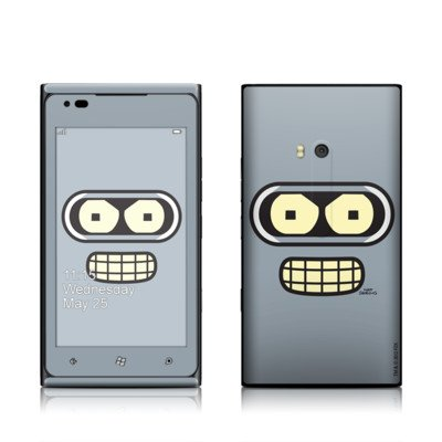 Bender Face Design Protective Skin Decal Sticker For Nokia Lumia 900 Cell Phone front-584720