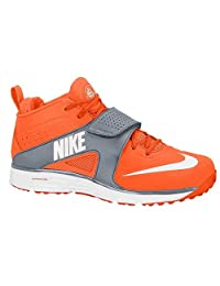Nike Huarache Turf Lax Shoes Mens Orange/Grey Size 11.5