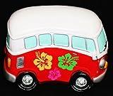 VW COMBI RED MONEY BOX