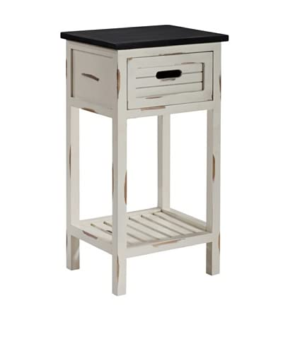 Gallerie Décor Shoreham 1-Drawer Accent Table, Cream