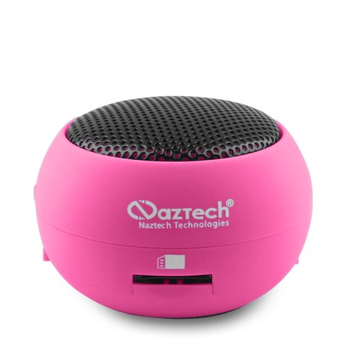 Naztech N15 3.5Mm Mini Boom Speaker With Sd Card Slot For Wma/Mp3 Playback/Apple Ipad/Iphone/Ipod/Smartphone/Laptops (11558)
