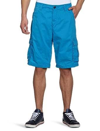 TOM TAILOR Denim Herren Bermuda 64001040212/washed cargo shorts, Gr. 28, Türkis (6380)