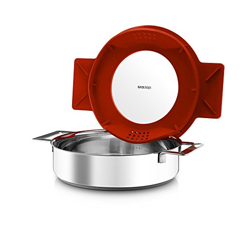 Eva Solo Gravity Cookware - Stainless Steel Diswasher Safe Saute Pan with Multifunctional Lid