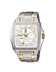 Timex E-Class Analog White Dial Men's Watch - I900