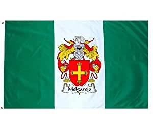 Amazon.com : Melgarejo Family Crest / Coat of Arms Flag