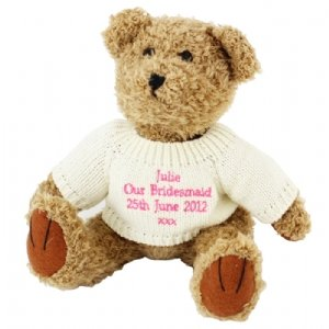 Personalised Teddy Bears (Pink Embroidery)