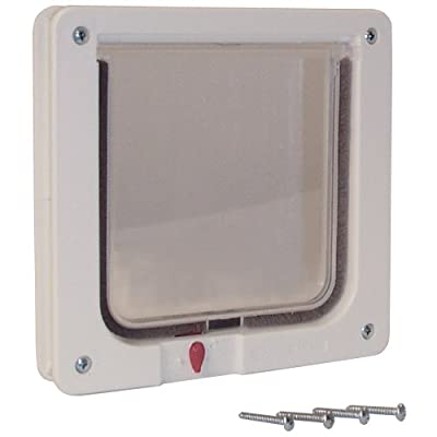 Ideal Pet Products 625-by-625-inch Lockable Cat Flap With Telescoping Frame from Ideal Pet Products