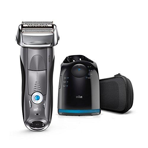 Braun Series 7 7865CC Wet&Dry Rasoio Elettrico con Sistema Clean&Charge, Grigio