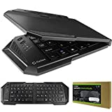 Samsung Galaxy S7 Edge Cellet Ultra-Thin Wireless Bluetooth 3.0 Foldable Keyboard with 20 Hours Usage and 22 Day Stand-by - Black