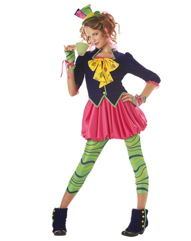 California Costume Collection Girls' The Mad Hatter Tween Costume