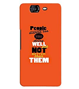 TOUCHNER (TN) People Wanna See Back Case Cover for Micromax Canvas Knight A350
