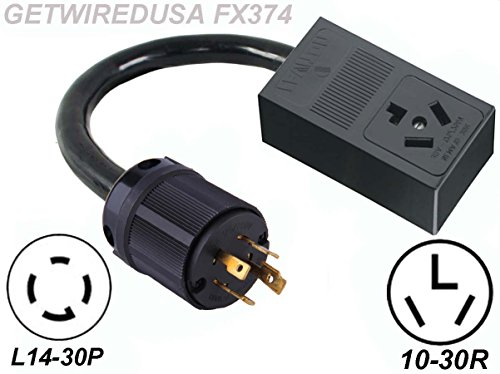 Mobile Home Power Cord 220 : Male generator l p prong twist lock plug to female