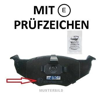 Satz Rondell Bremsbeläge Bremsklötze Vorderachse Audi Seat Skoda VW