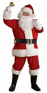 Rubie's Costume Regal Plush Santa Suit, Red/White, XX-Large Costume