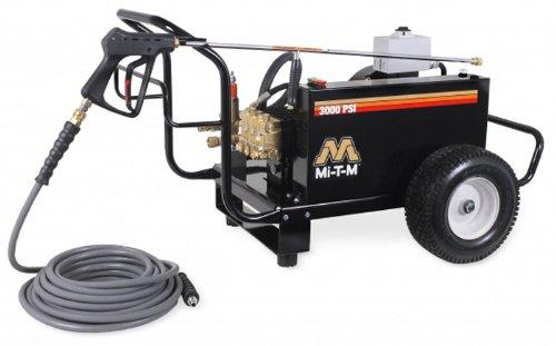 Mi-T-M Cw-3004-4Me3 Cw Premium Series Cold Water Electric Belt Drive, 8.0 Hp Motor, 230V, 20A, 3000 Psi Pressure Washer