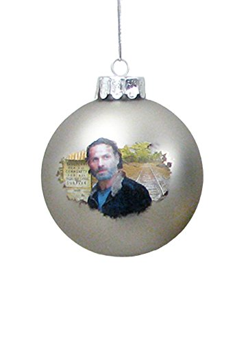 Walking Dead Rick Grimes Glass Ball 80mm Christmas Ornament