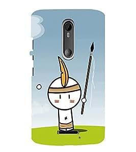 EPICCASE Tribal Boy Mobile Back Case Cover For Moto X 3rd Gen (Designer Case)