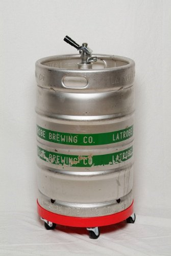 Beer Keg Dolly Sturdy Rolling Cart for Keg Transportation and Storage of Normal Full Sized Half Barrel Kegs (Half Keg Barrel compare prices)