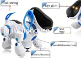 New Robot Dog Walking, Nodding Head,Tail waggling with Lights & music Robotic Pet Toy-Battery Operated