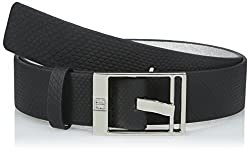 Ivanka Trump Women's 32mm Belt with Logo Buckle, Black, Small