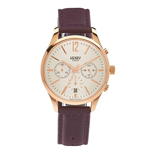 Henry London Unisex-Armbanduhr Hampstead Chronograph Quarz Leder HL39 - CS-0090
