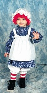 Raggedy Ann Child Costume Size 2-4 Toddler