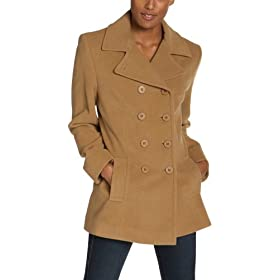 Jones New York Women's Double Breasted Shaped Pea Coat